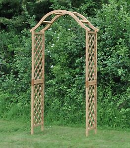Selections Wooden Garden Arch with Curved Top (Tan)