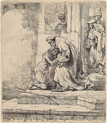 Rembrandt Etching Reproductions: Return of the Prodigal Son: Fine Art Print