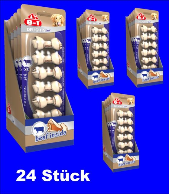 8in1 Beef Delights Chew Bone XS 24x7 St with Beef, The kausnack for Dogs