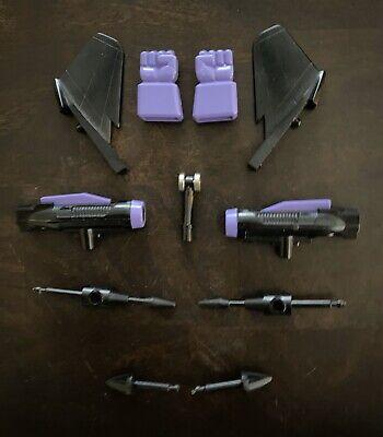 Transformers G1 Skywarp Accessories Decepticon Jet FistsRuddersMissilesMore
