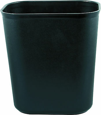 Papierkorb eckig schwarz Mülleimer Abfalleimer Abfallbehälter Abfallkorb PP