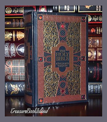 Holy Bible King James Version Gustave Gore Sealed Leather Bound Collectible Ed