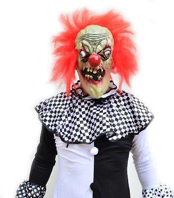 Scary Halloween Black & White Adult Mens Killer Clown Costume & Mask - BERSERK - Black And White Scary Clown