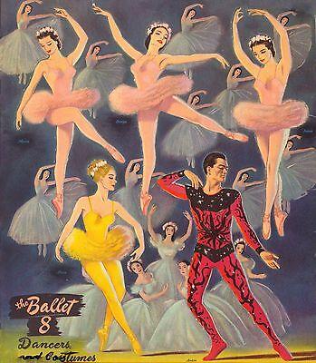 VINTAGE UNCUT 1947 BALLET DANCERS PAPER DOLLS ~HD LASER REPRODUCTION~LO PR~HI