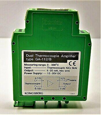 Kongsberg Dual Thermocouple Amplifier Type Ga-112b Power Supply 12-35v Dc