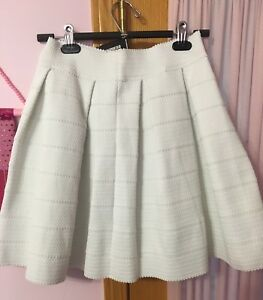 White flared skirt size small