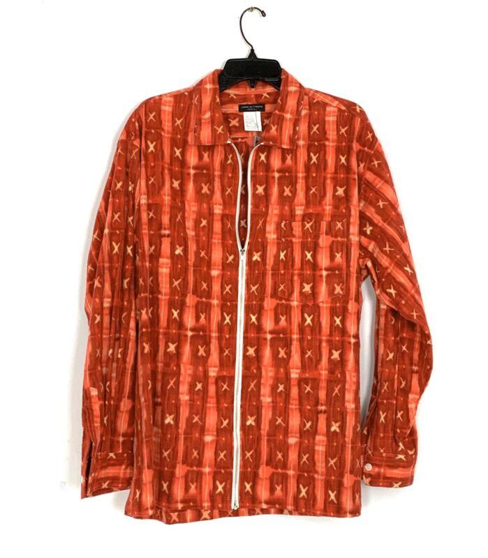 Comme Des Garcons Homme Plus Red Zipper Flannel Shirt NEW