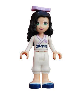 Lego Friends Emma in Karate Anzug Uniform Minifigur Figur Legofigur frnd037 Neu ()