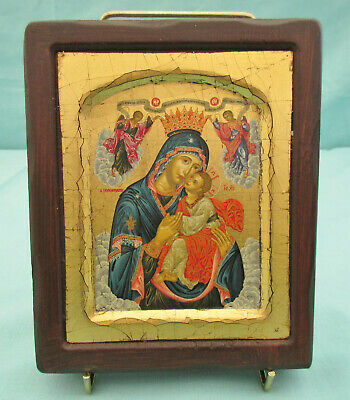 RELIGIOUS BYZANTINE ICON PLAQUE (CHARITY SALE)