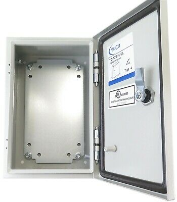 Yuco 12x8x6 Electrical Box Ip66 Rated Nema Type 4 Enclosure Gland Screw Plate