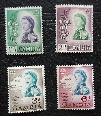 1961 GAMBIA  SC #168-171. ROYAL VISIT OF  QE II - MNH - free shipping