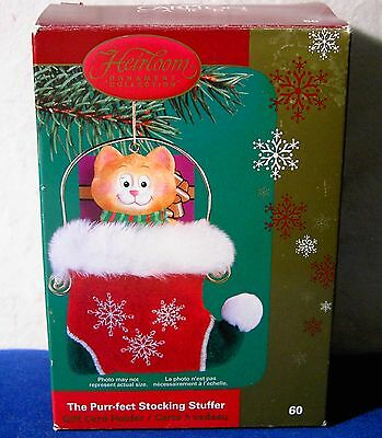 Carlton Cards The Purr-fect Stocking Stuffer Ornament Heirloom Collection 60 (Purr Fect Cat Stocking)