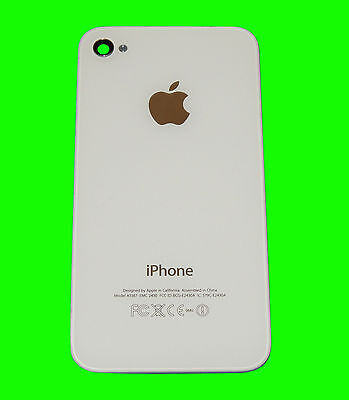 Genuine iPhone 4S WHITE Battery Door A1387 GSM CDMA Glass Back Cover/ Apple Logo Gsm Battery Door