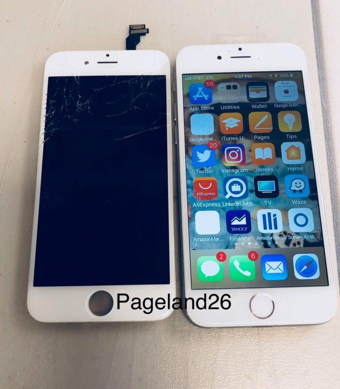 Apple Iphone 6s Cracked Or Broken Glass Repair Service - Same Day Turn Around