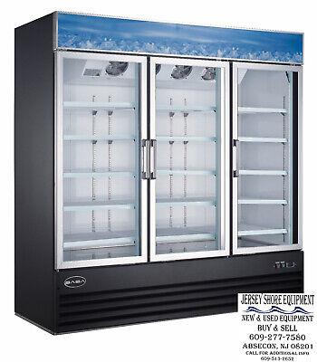 Saba Sm-72f Commercial Merchandiser Freezer Display Case 3 Glass Swing Doors