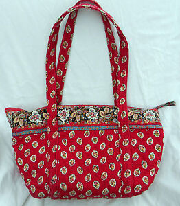 Vera Bradley Tote handbag purse in Red Leaf 1997-2001 retired pattern Rare!