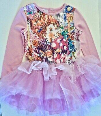 Young Girls Dress (NWT Fancy Nancy Tutu Dress Young Girls 6 ilac/Pink Sequin Top 3 Tier)