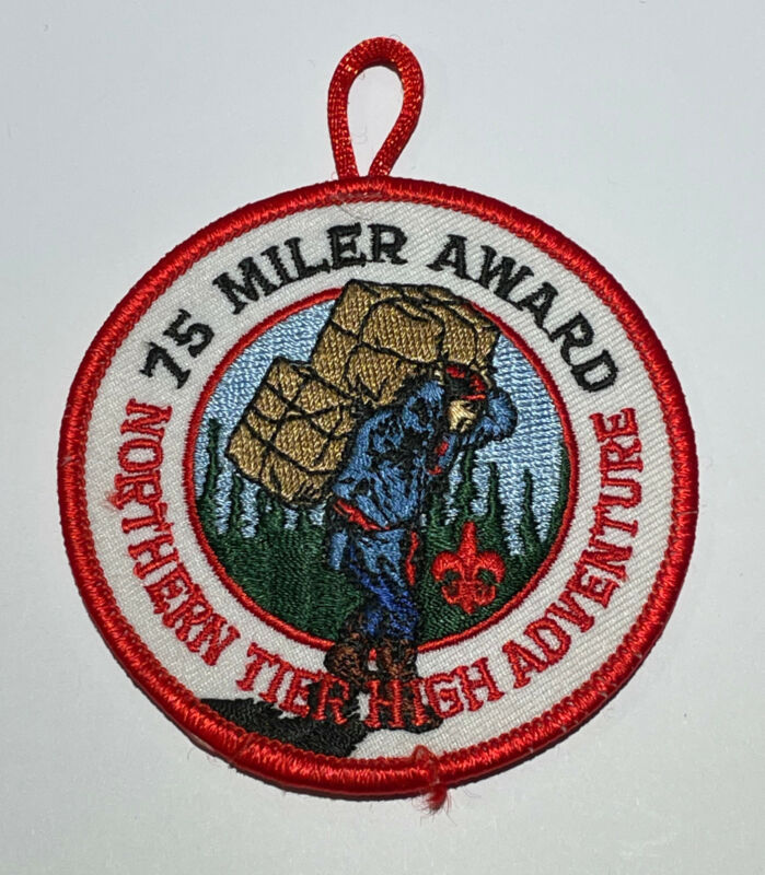 75 Miler Award Northern Tier High Adventure Patch Boy Scout TK2