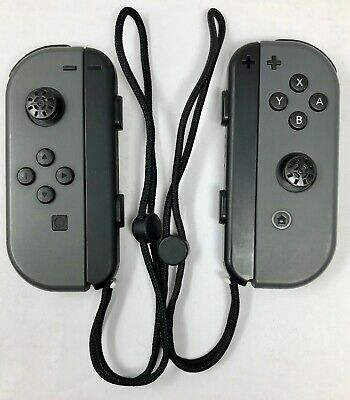 Genuine - Nintendo Joy-Con (L/R) Controllers -Gray for Nintendo Switch - (READ)