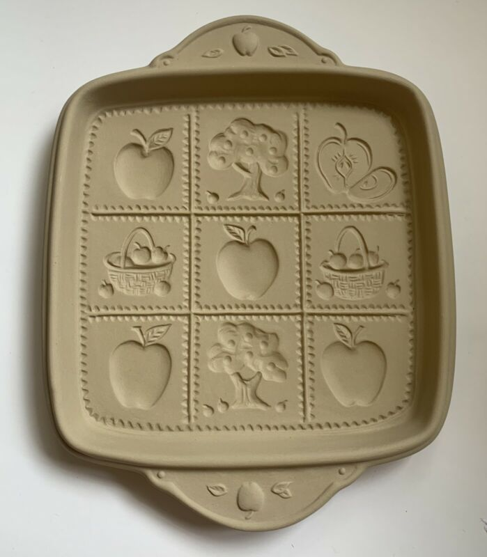 Vintage Brown Bag Cookie Art Mold Shortbread Apples Tree 1994 Hill Design