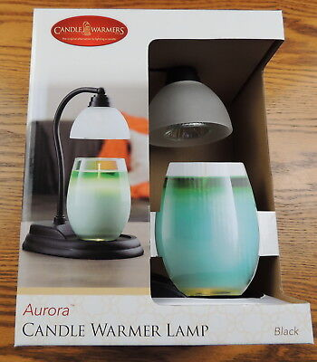 NEW Candle Warmers Etc. Aurora Candle Warmer Lamp Flameless Black FREE EXPEDITED