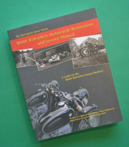 1955-69 BMW Motorcycle Restore Service Manual Book R60 R69S R50US R60US R69US