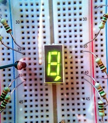 X80 Als335a2 7-seg Russian Green Led Indicator Tested Otk Factory Package