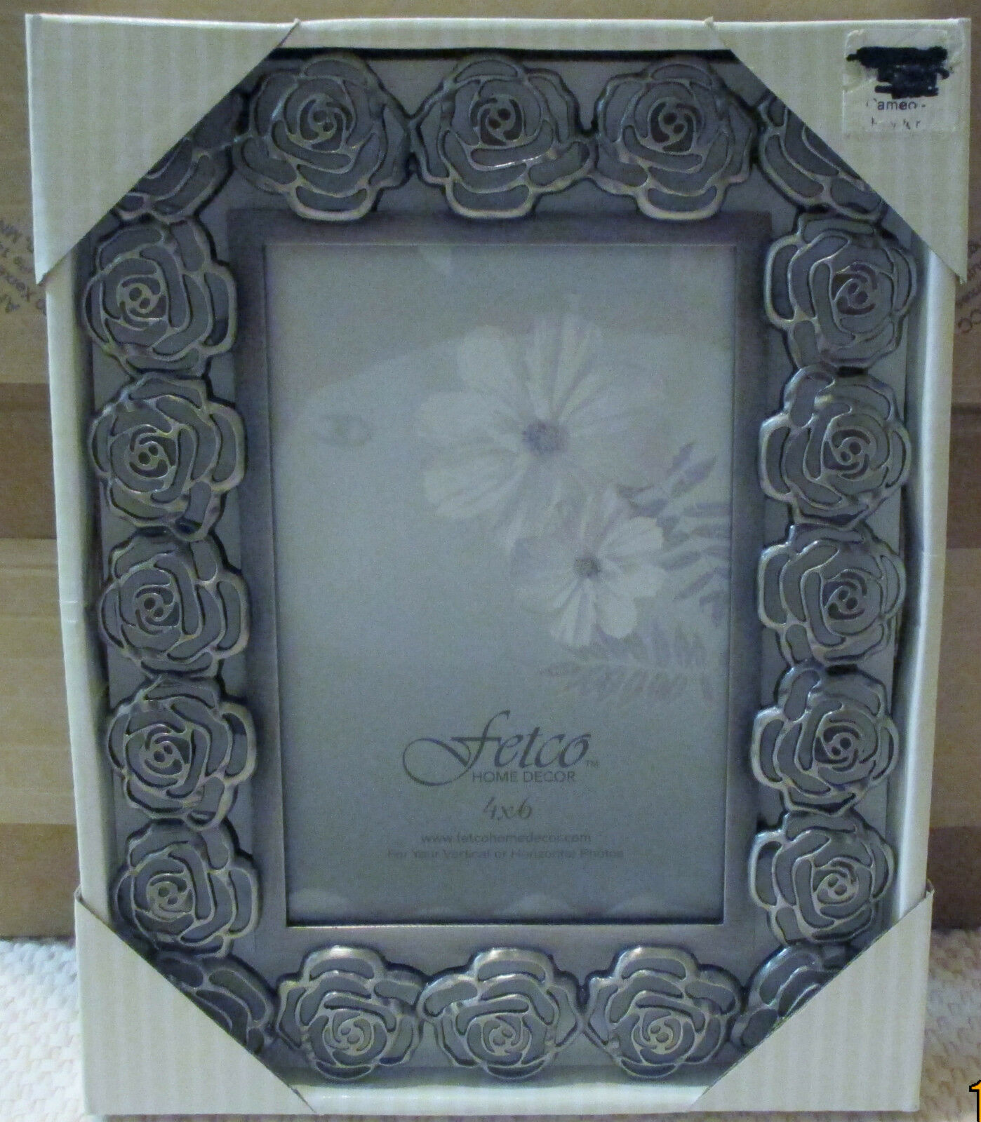 Photo picture frames home decor home furniture diy fetco cameo pewter 4x6 picture frame nip jeuxipadfo Gallery