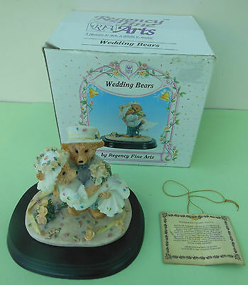 Wedding Bears By Regency Fine Arts Cake Topper Ornament Boxed