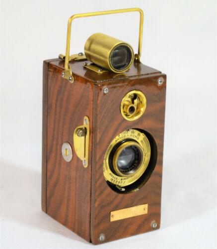 BOX CAMERA ANSCO 94-YEAR-OLD VINTAGE ANSCO MEMO (1927 TYPE) CUSTOM WALNUT WOOD