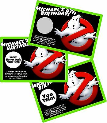GHOST BUSTERS GHOSTBUSTERS SCRATCH OFF OFFS PARTY GAMES CARDS BIRTHDAY FAVORS](Party Ghost)