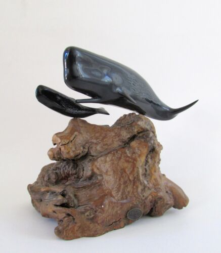 John Perry Sperm Whale Sculpture Mother & Calf
