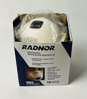 Radnor N95 Particulate Respirators With Valve Exp 080720