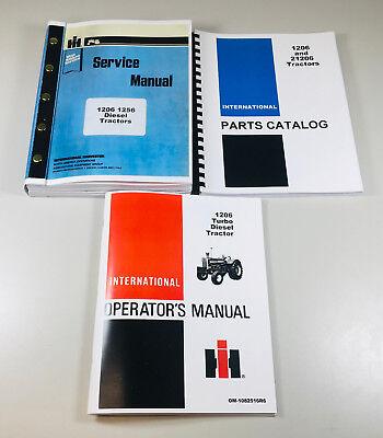 International Farmall 1206 Diesel Tractor Service Parts Operators Manual Repair