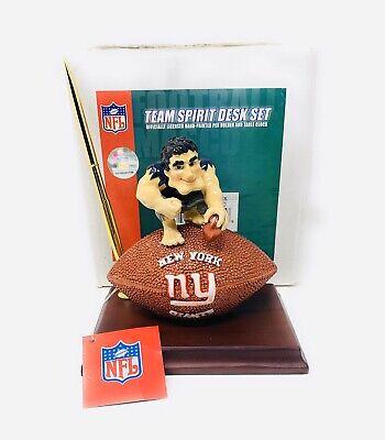 NEW YORK GIANTS NFL TEAM SPIRIT DESK SET WITH CLOCK  - NEW IN BOX Giants Desk Clock