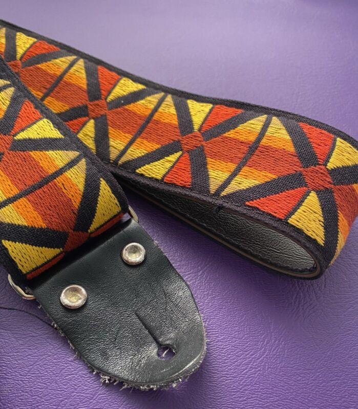 Vintage Guitar Strap 1960s Woodstock ACE Hippie Style Clapton Hendrix Dylan 1969