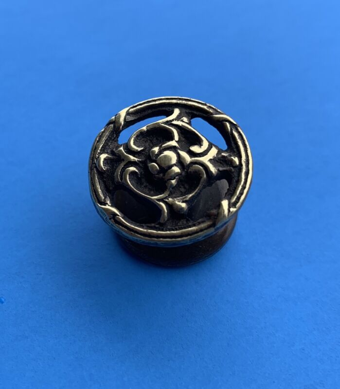 Rococo Flower Cabinet Knob Victorian  French Brass Antique Hardware drawer pull