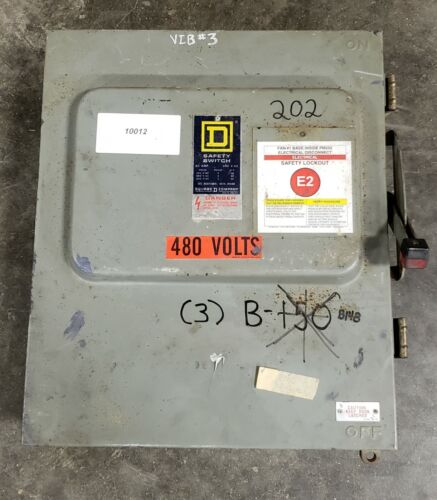 Square D HU662RWK Safety Switch 60A  #10012