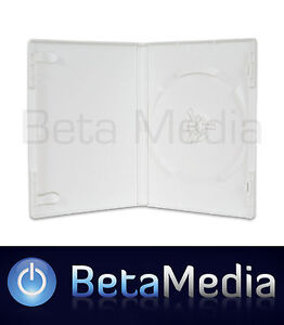 50 SINGLE White 14mm Quality CD / DVD Cover Cases