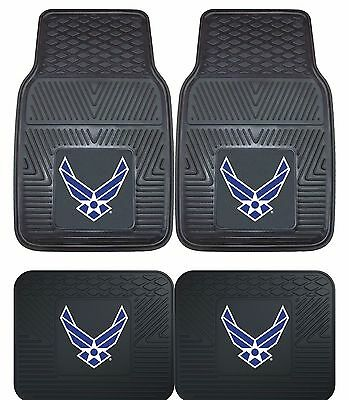Air Force Floor Mat (United States U.S. Air Force Heavy Duty Floor Mats 2 & 4 pc Sets for Cars Trucks )
