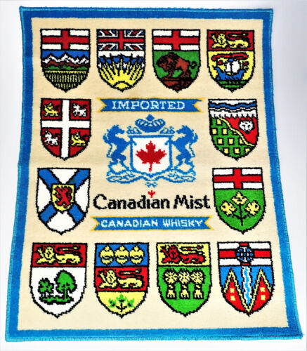 Canadian Mist Whiskey Rug 27x34 Shields Coat of Arms Logo Bar