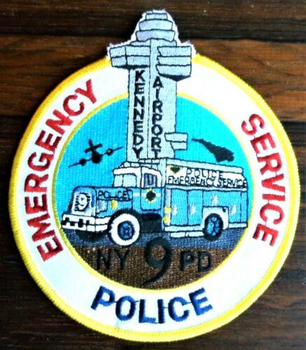 GEMSCO NOS NYPD Patch POLICE - ESU EMERGENCY SERVICE TRUCK 9 - Kennedy Airport