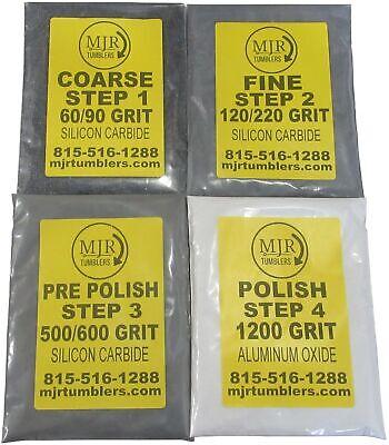 10lb Rock Tumbler Refill Grit Kit Stone Polishing Silicon Carbide Aluminum Oxide