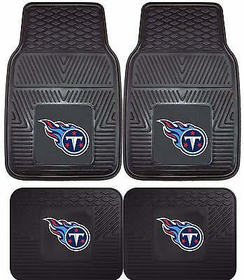Tennessee Titans Heavy Duty NFL Floor Mats 2 & 4 pc Sets for Cars Trucks & SUV