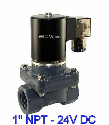 Cpvc Anti Corrosión Ácido Sal Agua Eléctrico Válvula Solenoide 1 Pulgadas Nc...