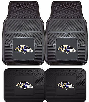 Baltimore Ravens Heavy Duty NFL Floor Mats 2 & 4 pc Sets for Cars Trucks & SUV's