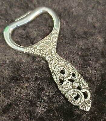 Art Nouveau Style Silver Plate Handheld Bottle Opener - Stunning Item!