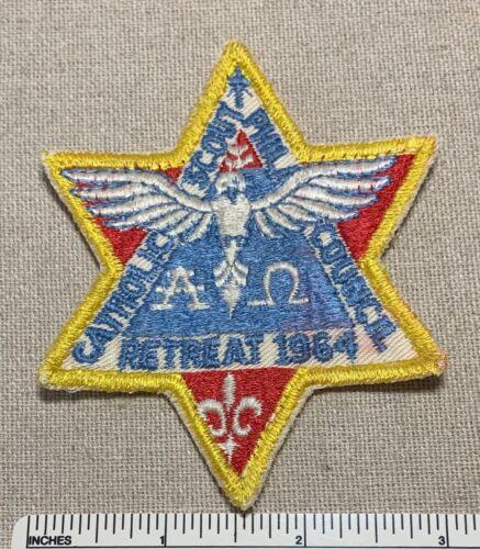 Vintage 1964 PHILADELPHIA COUNCIL Boy Scout Catholic Retreat PATCH BSA Camp