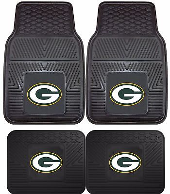 Green Bay Packers Floor Mat - Green Bay Packers Heavy Duty Vinyl Car, Truck, SUV Auto Floor Mats