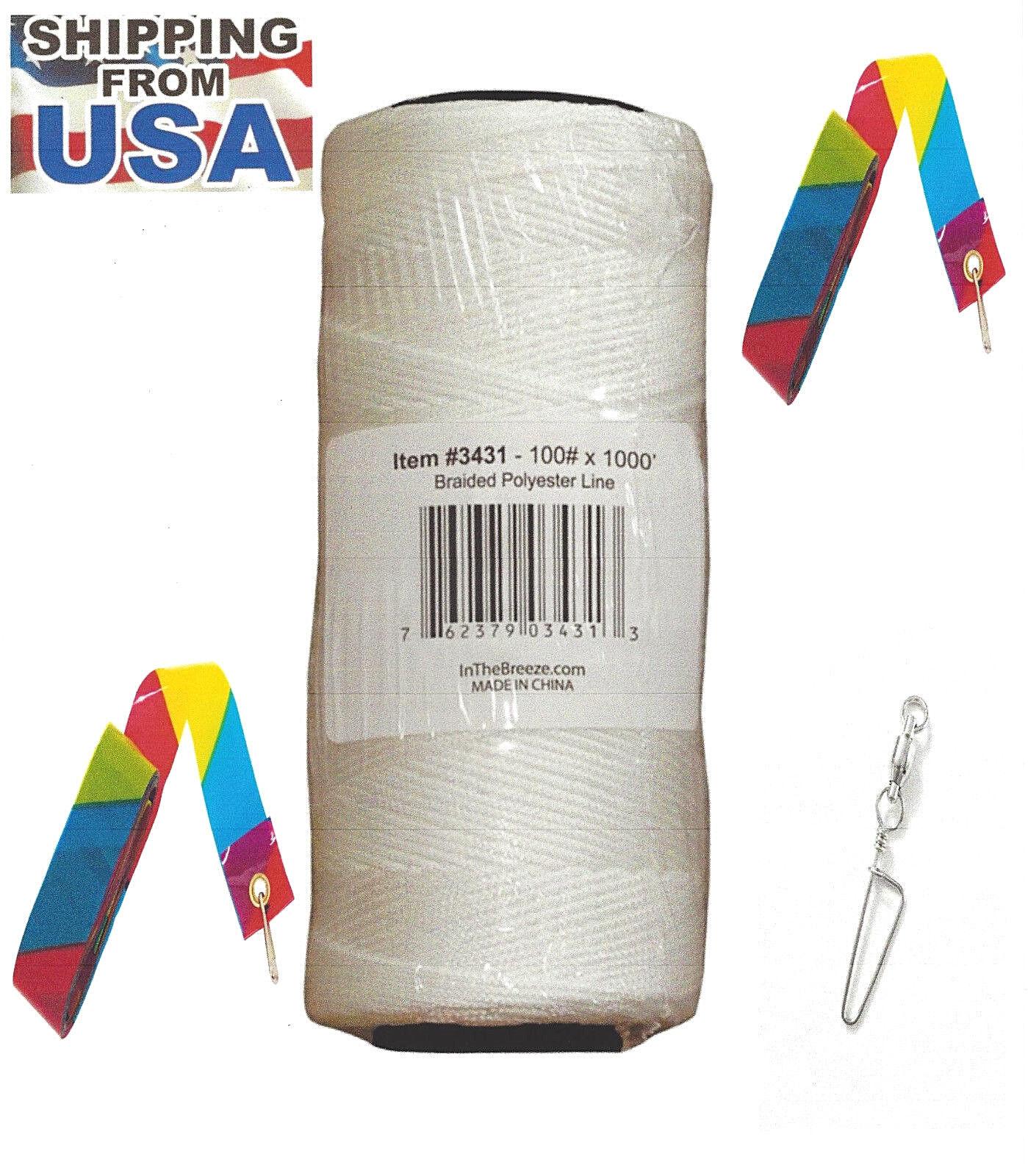 kite line polyester braided 1 000 ft